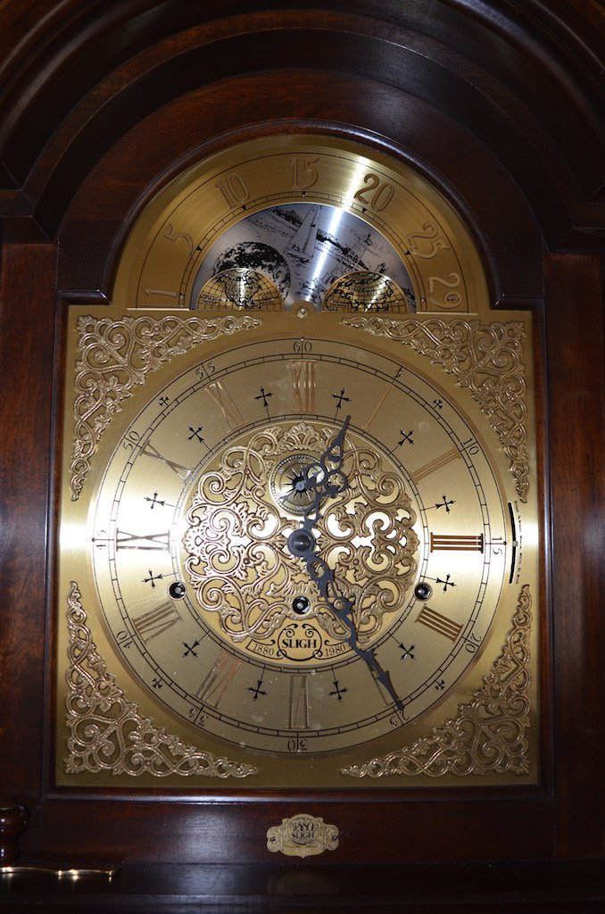 Sligh 100th Anniversary Triple Chime Grandfather Clock - 3