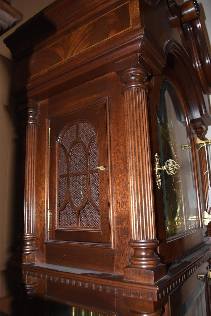 Sligh 100th Anniversary Triple Chime Grandfather Clock - 8