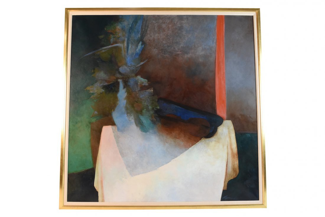 """Original Oil on Canvas by Claude Gaveau """"Symphonie"""" SLR"""