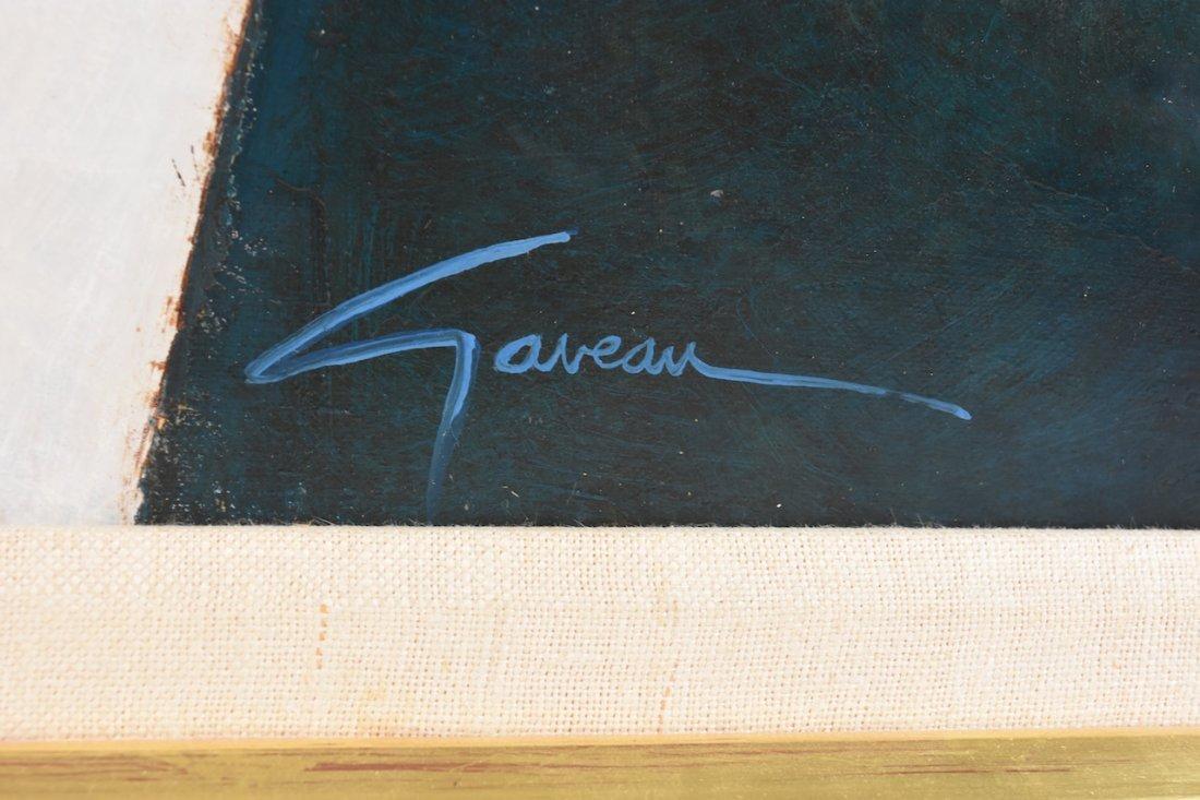 """Original Oil on Canvas by Claude Gaveau """"Symphonie"""" SLR - 2"""