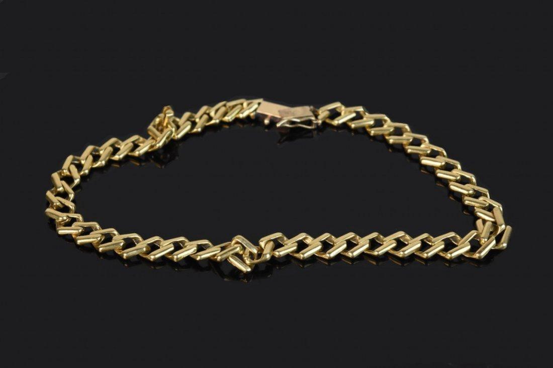 14K Yellow Gold Link Bracelet - 5