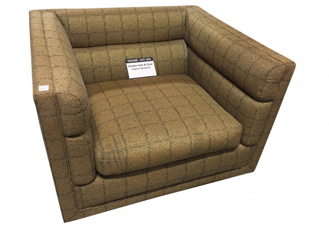 Mid-Century Dunbar Sofa & Arm Chair; Original Covering - 2