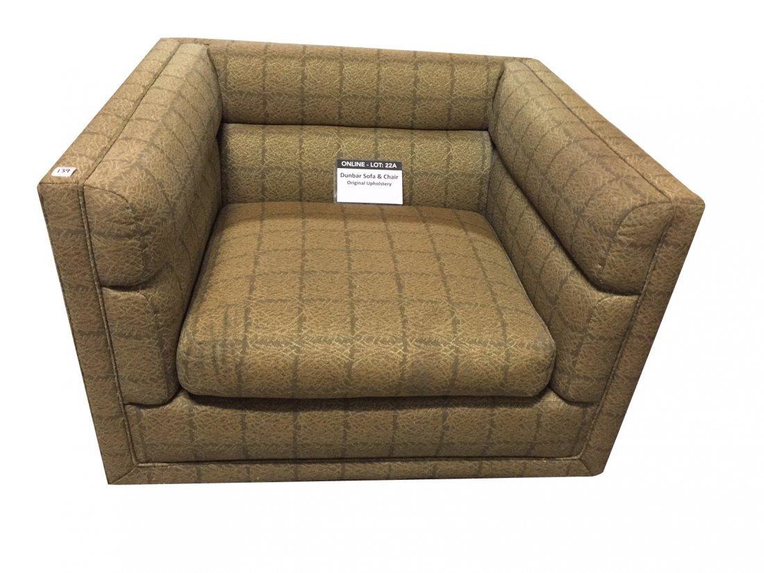 Mid-Century Dunbar Sofa & Arm Chair; Original Covering - 3
