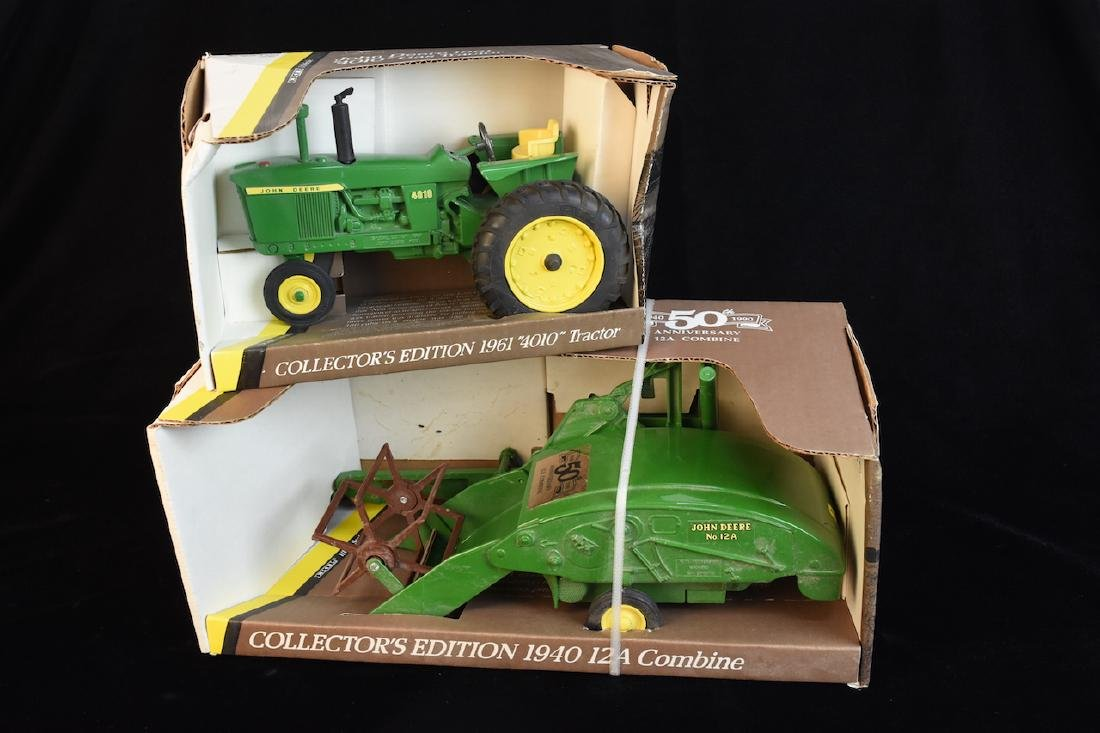 (2) ERTL John Deere 1/16 Scale Die Cast Farm Model