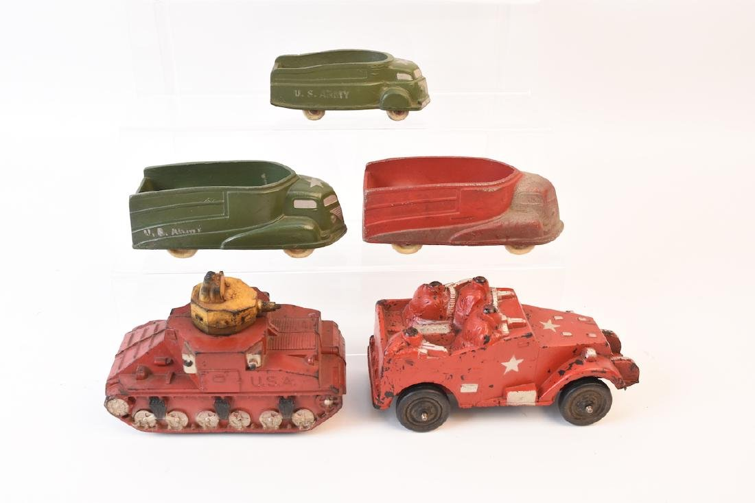 The Sun Rubber Co. Army Vehicle Toys