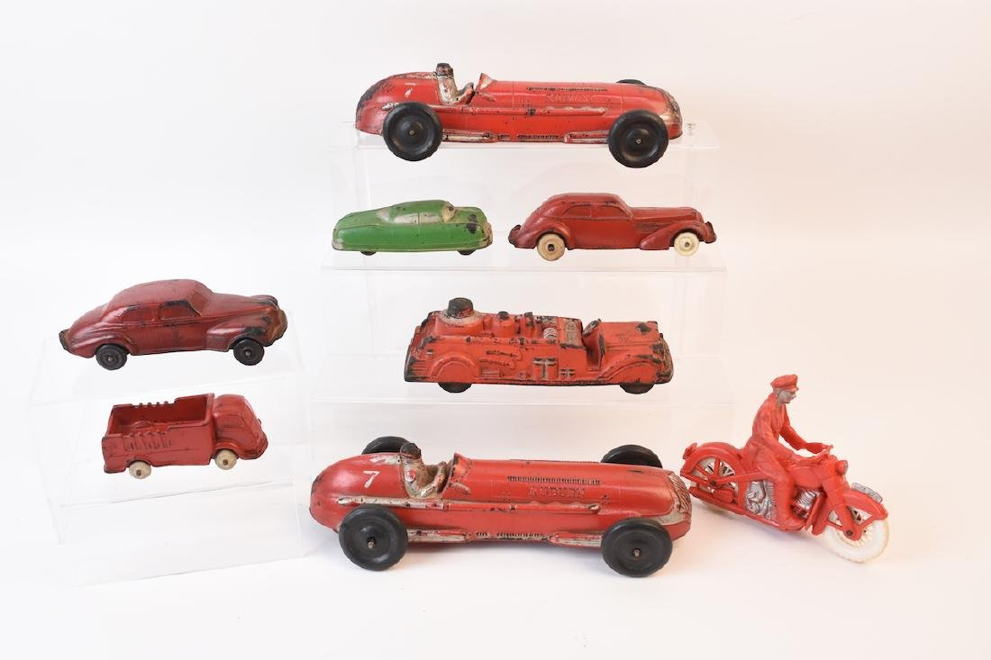 (7) Auburn Rubber Toy Vehicles