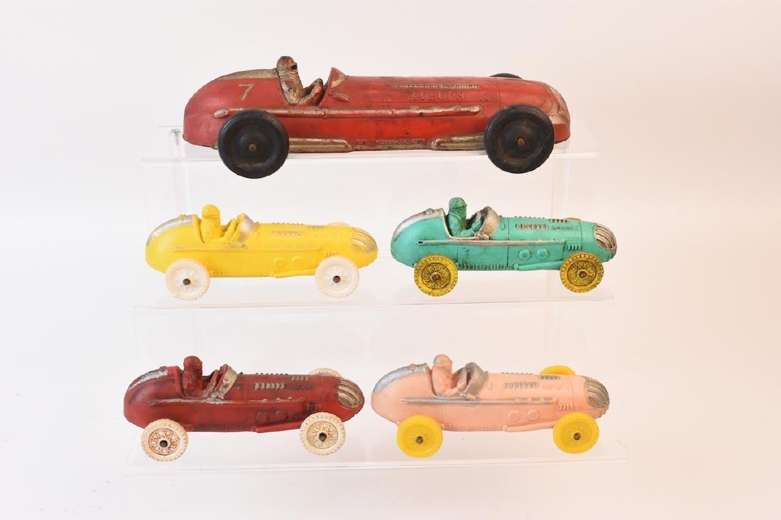 (5) Auburn Rubber Race Cars