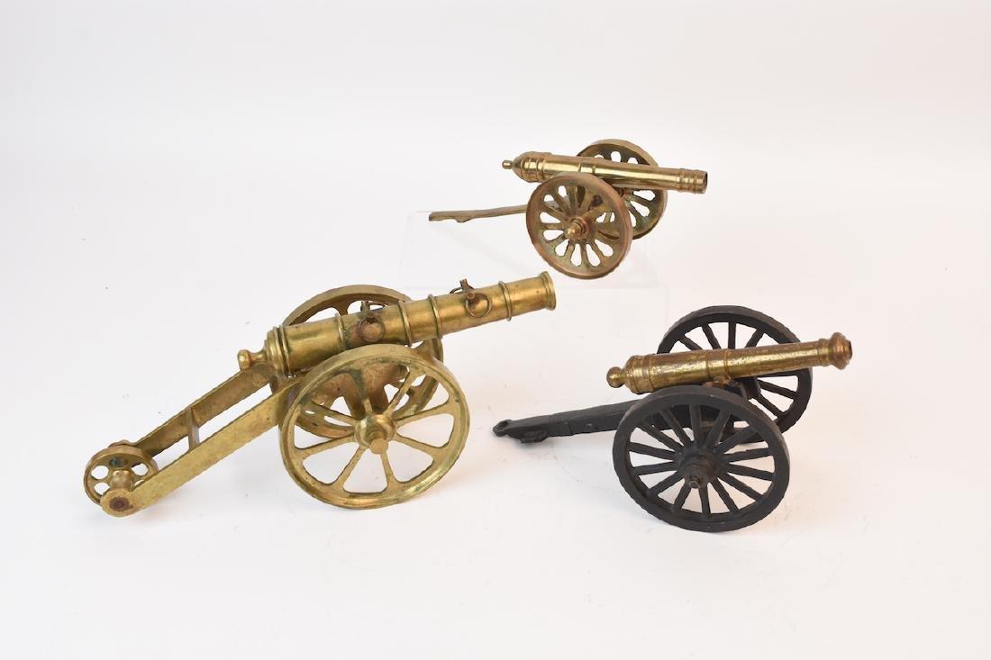 (3) Miniature Desktop Cannons