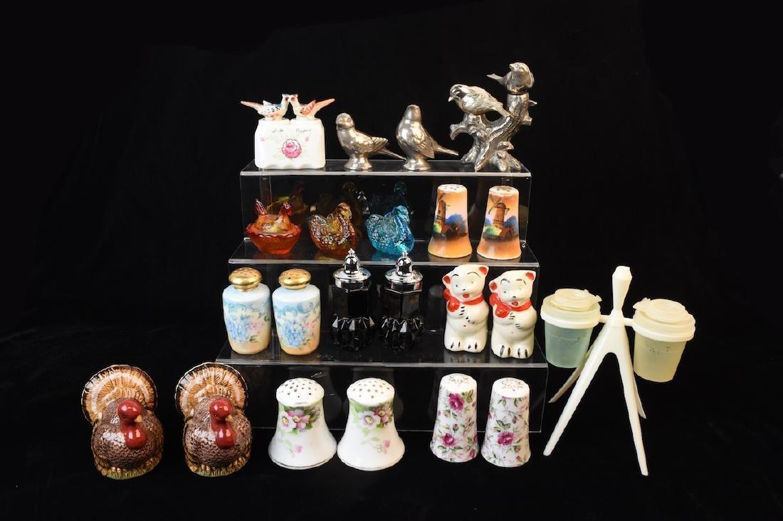 Assorted Salt & Pepper Shakers & Cellars