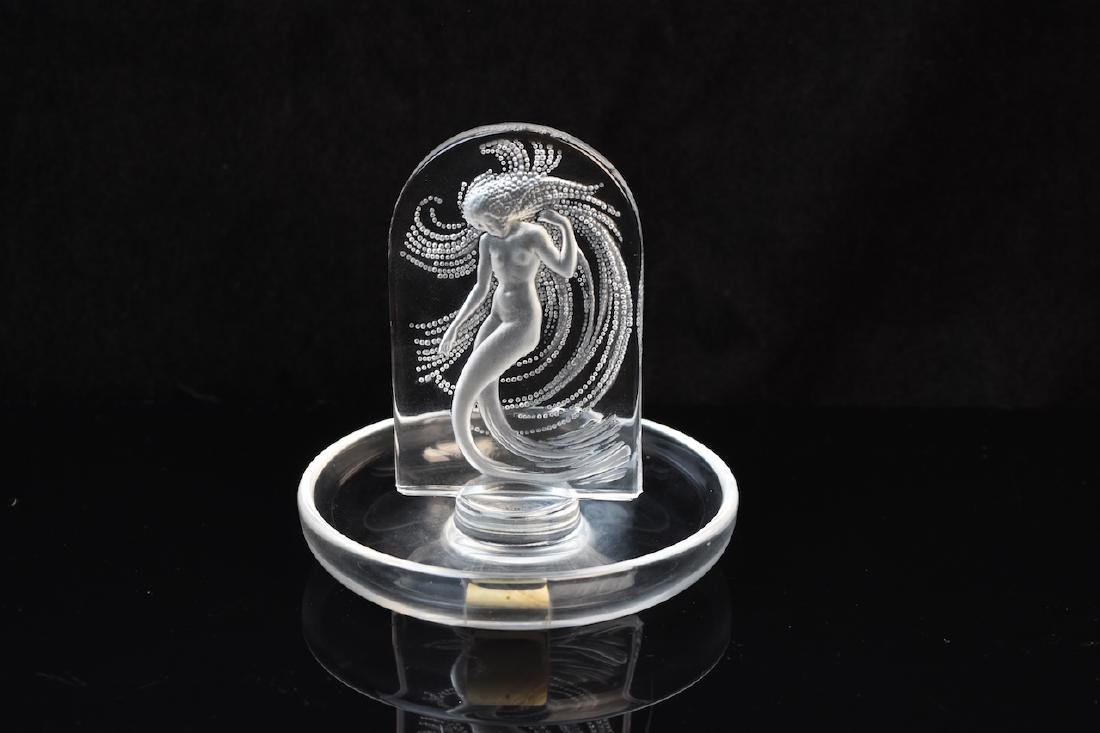 Lalique Ring Dish With Dancing Nymph; signed