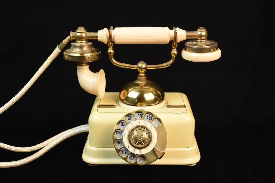 Vint. Kjobenhavns Bakelite Telephone Made in Denmark