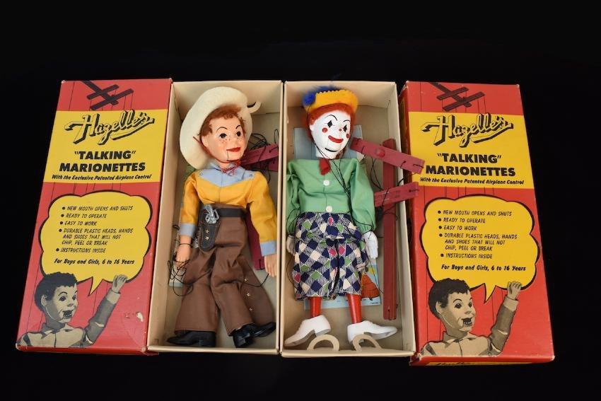 (2) 1950's Hazelle's Talking Marionettes- 405 & 401
