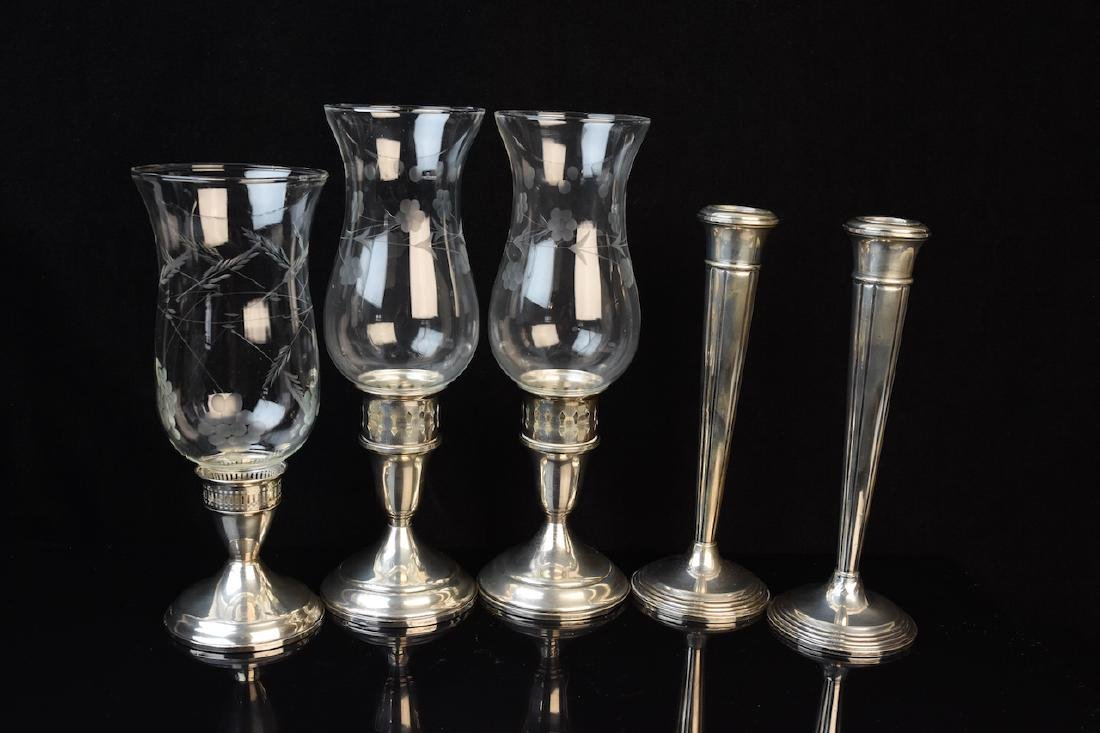 Sterling Hurricanes and Candlestick Holders