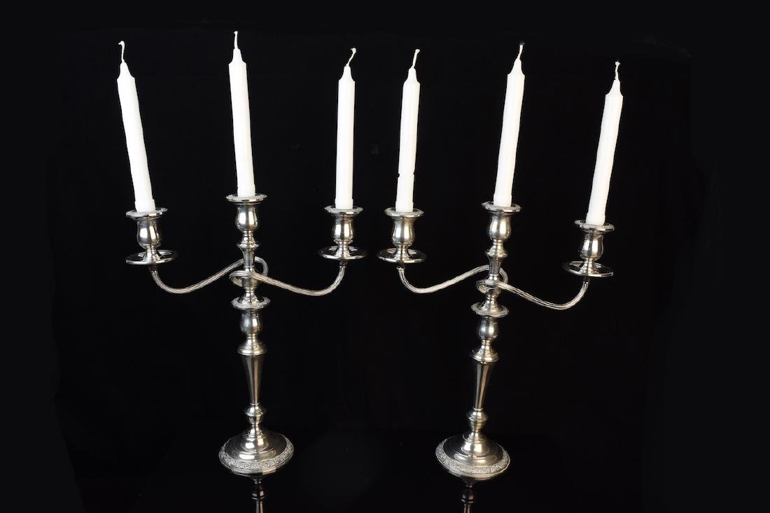 Pair of Weighted Sterling Silver Candelabra's