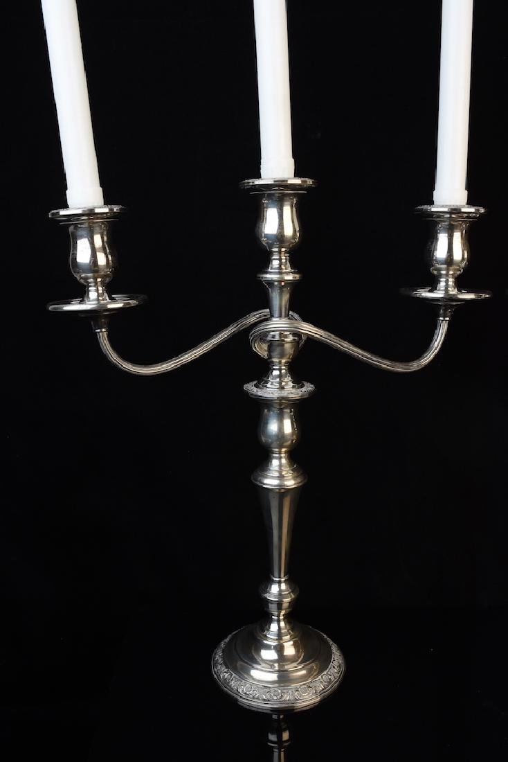Pair of Weighted Sterling Silver Candelabra's - 2