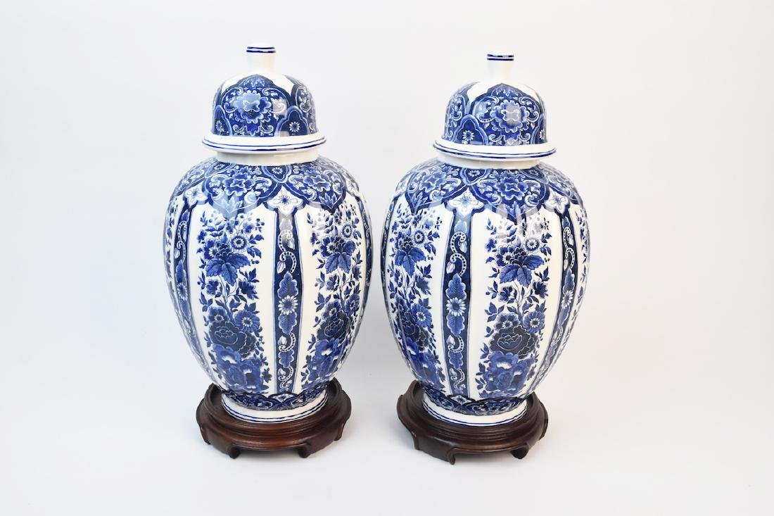 Ardalt Blue Delfia 4370 Ginger Jars, Made in Italy