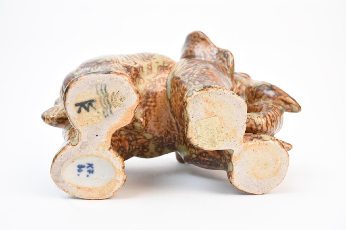 Royal Copenhagen Denmark Stoneware Elephant - 6