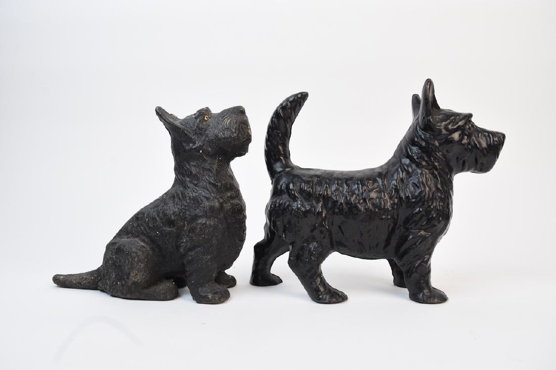 (2) Cast Iron Scotty Dog Doorstops