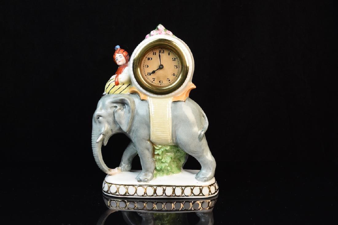 Ceramic German Elephant Clock #4333