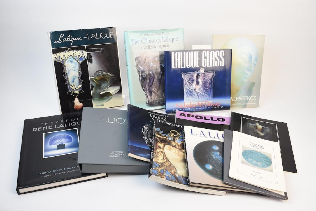 Lalique Coffee Table Reference Books