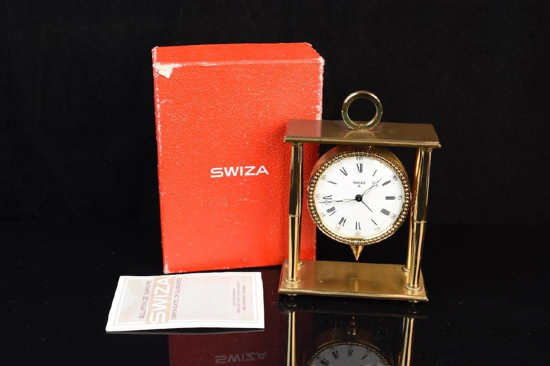 Swiza 8 Brass Alarm Clock