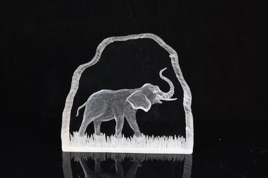 (3) Elephant Figurals, Galvan & Jonasson Signed Pieces - 5