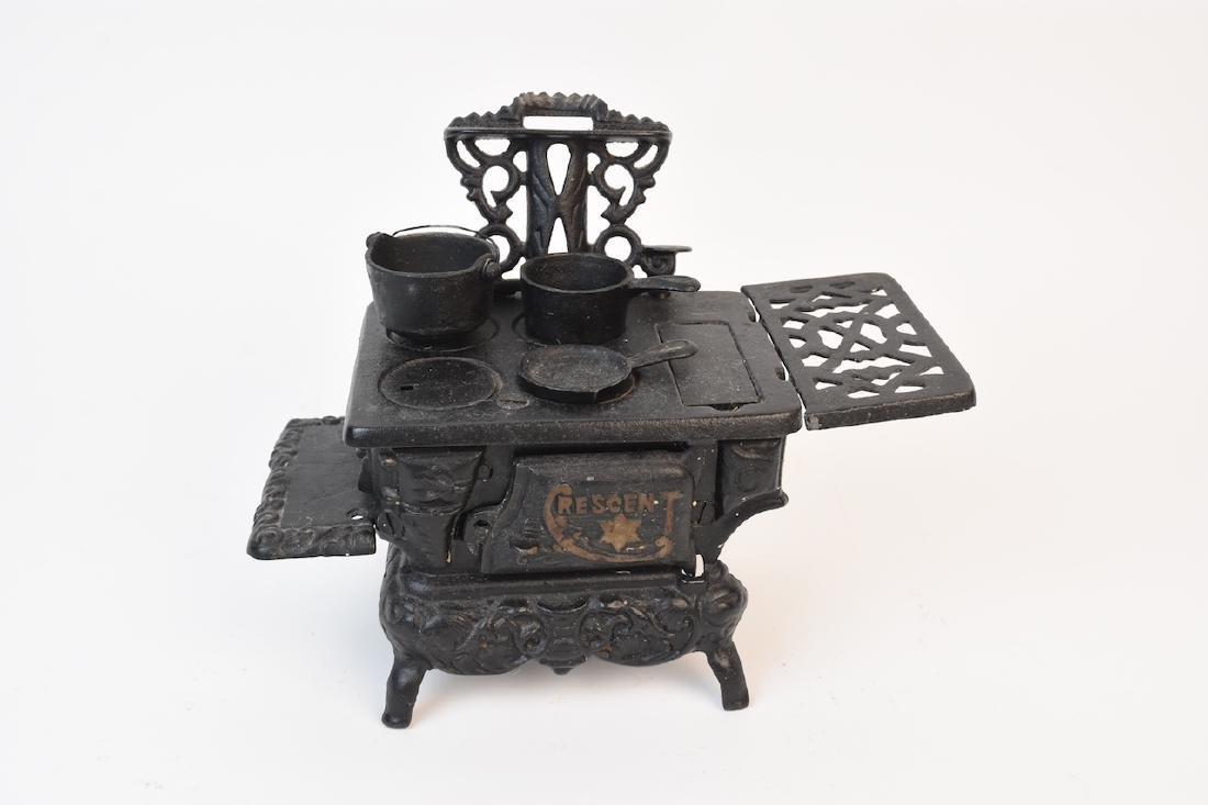 Mini Cast Iron Crescent Stove & Accessories
