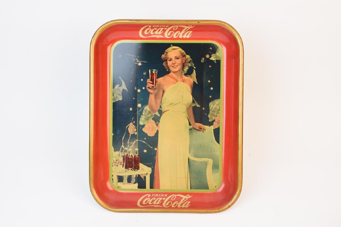 Vintage Advertising Coca-Cola Tray; 1938