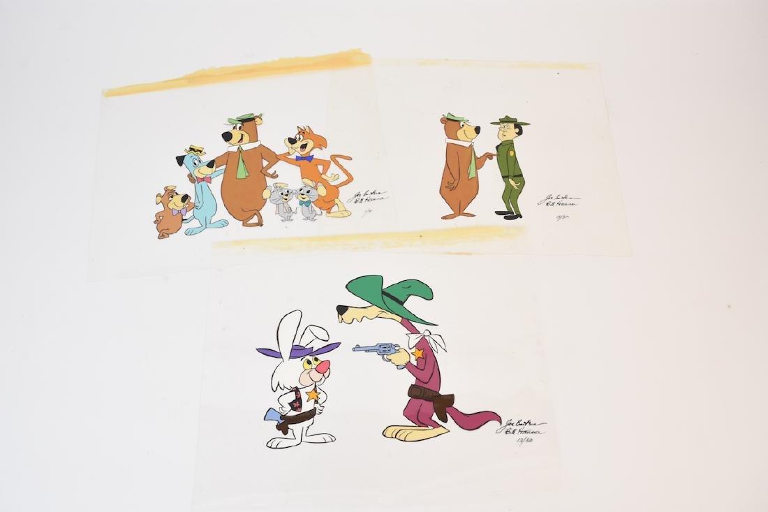 (3) Hanna Barbera Cartoon Cells; signed