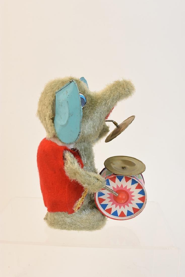 (4) Vintage Plush & Tin Mechanical Elephant Toys - 11