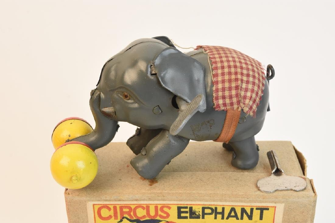 (4) Vintage Plush & Tin Mechanical Elephant Toys - 4