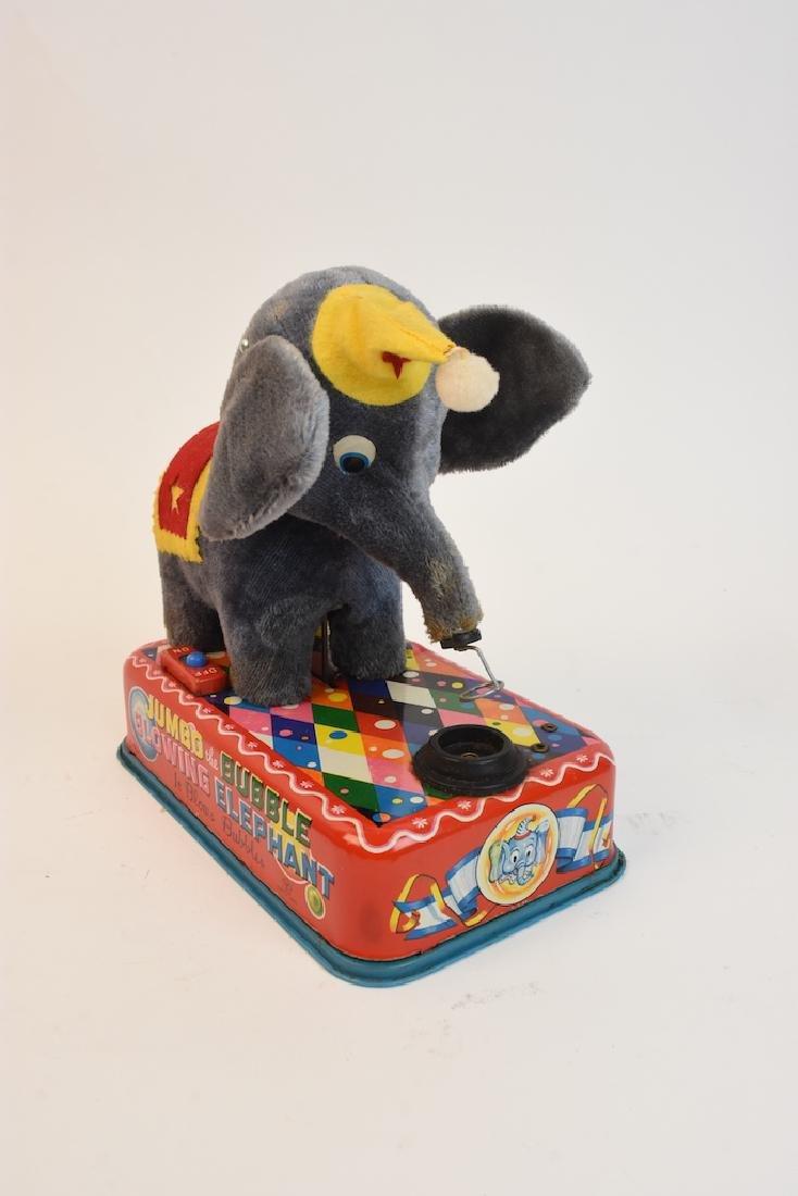 (4) Vintage Plush & Tin Mechanical Elephant Toys - 6