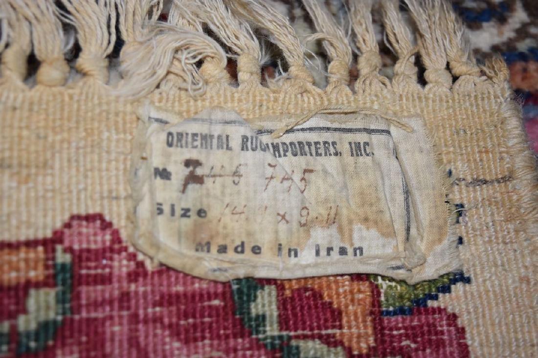 Kirman Persian Hand Woven Rug, 14' x 9' - 5