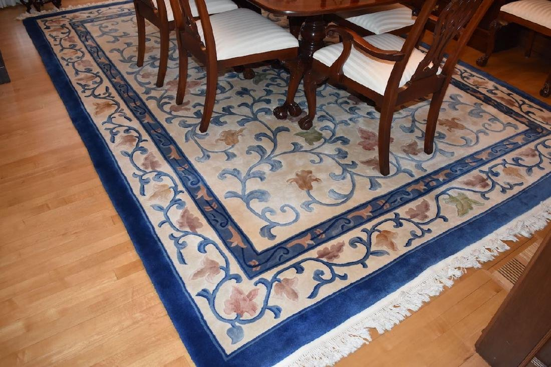 Chinese Sculpted Hand Woven Area Rug 12' x 9'
