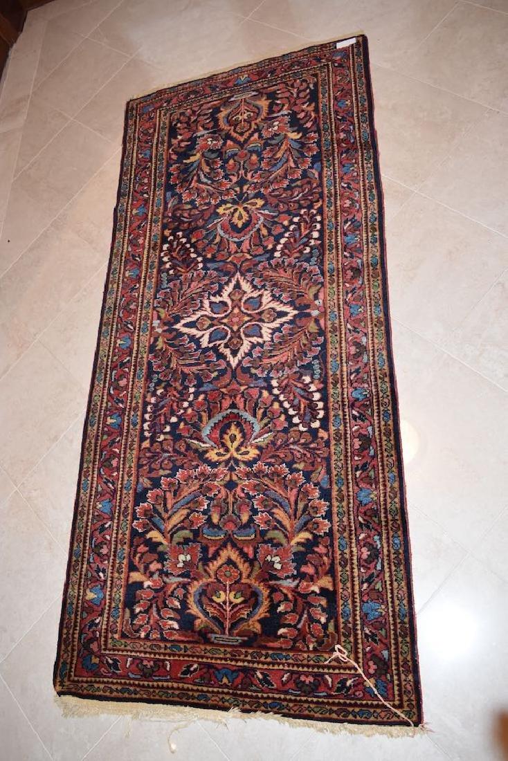 "Tabriz Hand Woven Rug, 6' 8"" x 3'"
