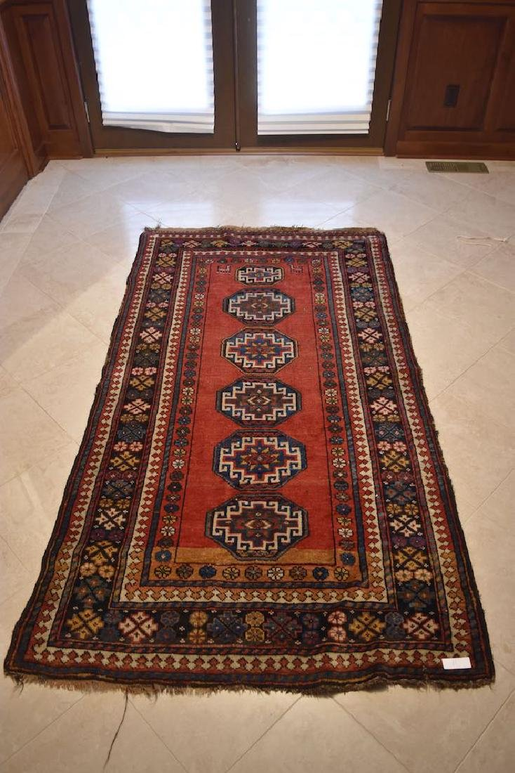 Turkish Hand Woven Runner, 6' x 3'