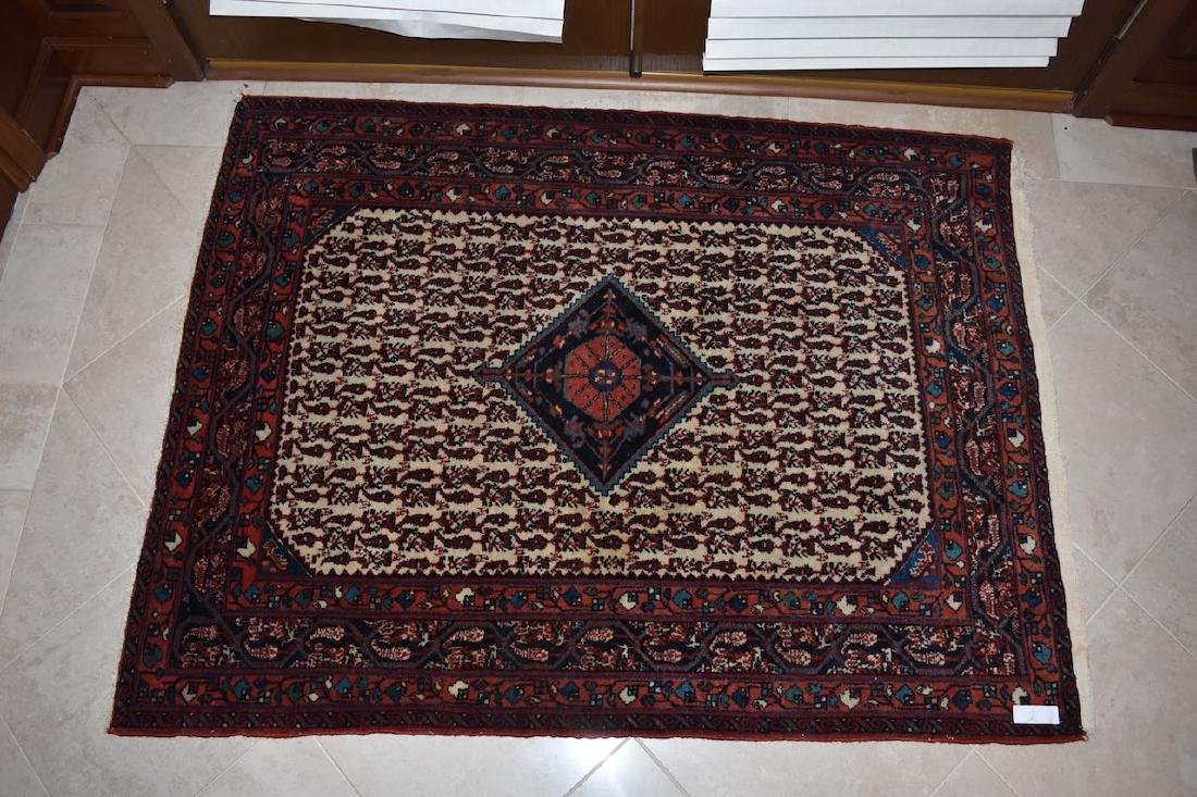 "Persian Hand Woven Rug, 4' 7"" x 3' 6"""