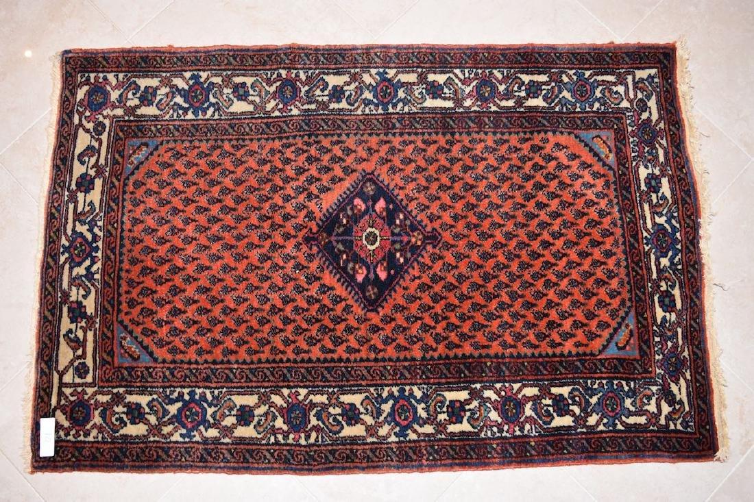 "Persian Seraband Hand Woven Rug, 4' x 2' 8"""