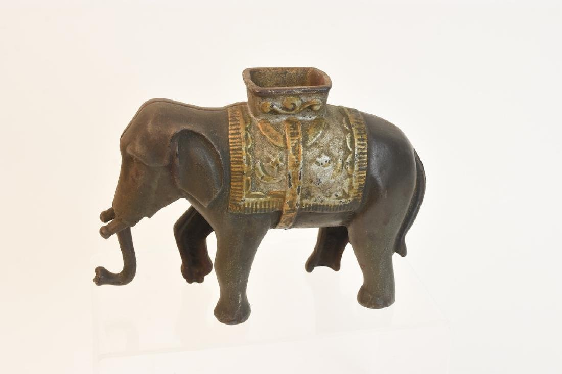 Cast Iron AC Williams Elephant Bank C. 1910