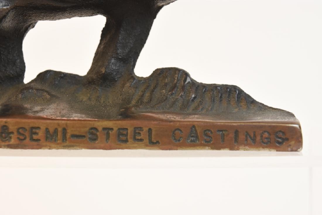 Cast Iron Advertising Elephant Door Stop - 6