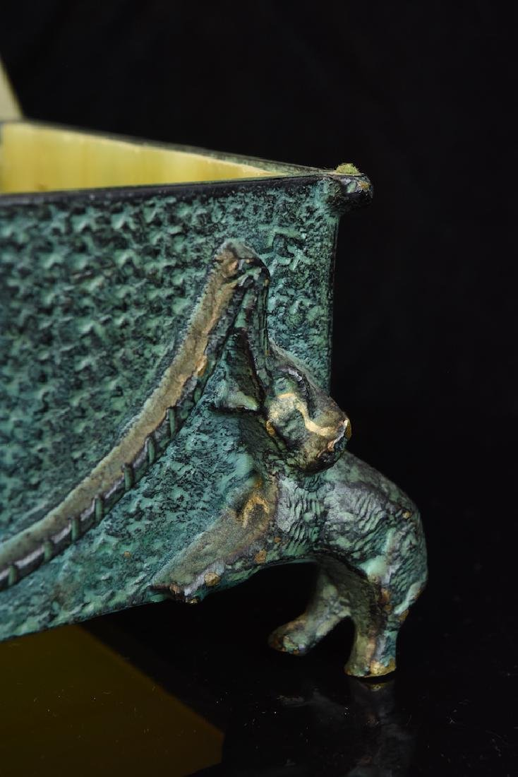 Group of 3 Hardstone Desktop Items w/ Elephant Figurals - 5