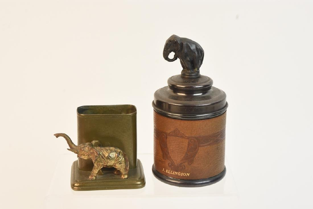 (2) Tobacco Cigarette Holders With Elephants