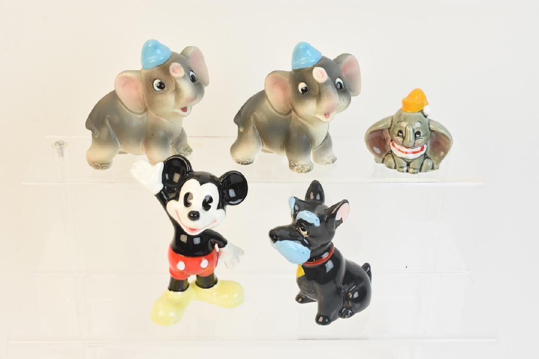 (5) Disney Character Porcelain Figurals
