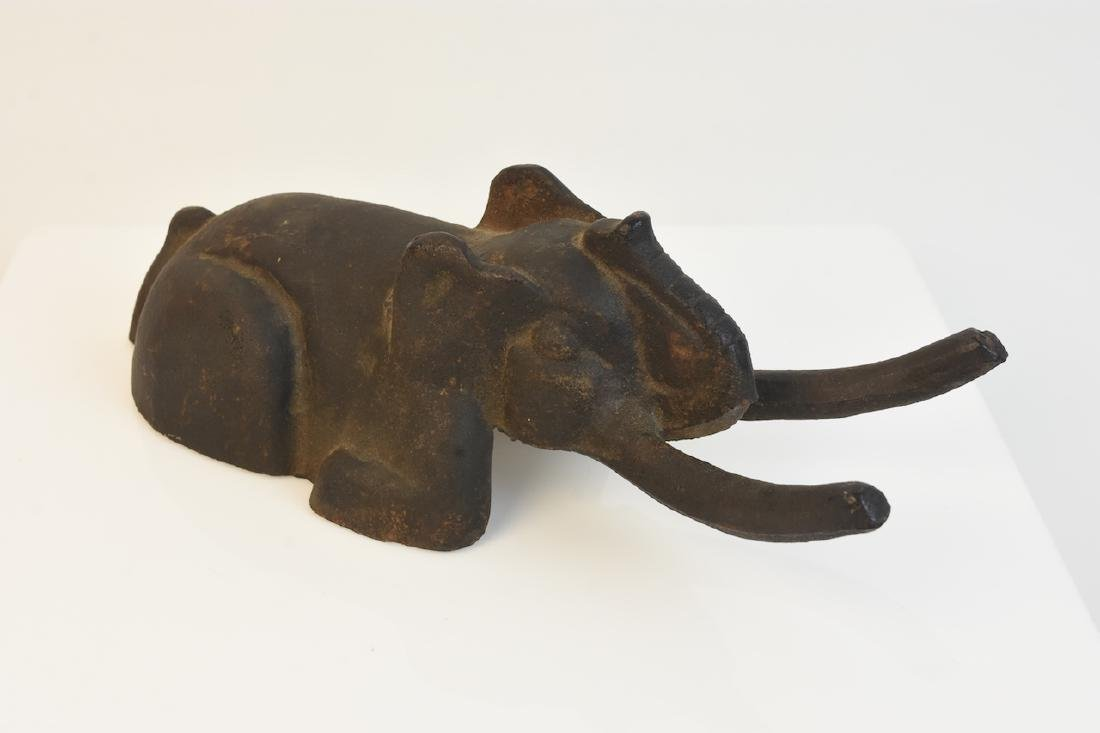 RARE Antique Cast Iron Elephant Boot Jack