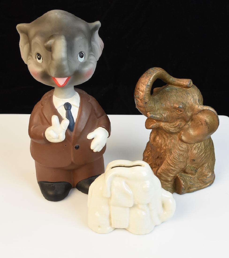 (3) Elephant Banks -Lego Bobble Head, Listerine