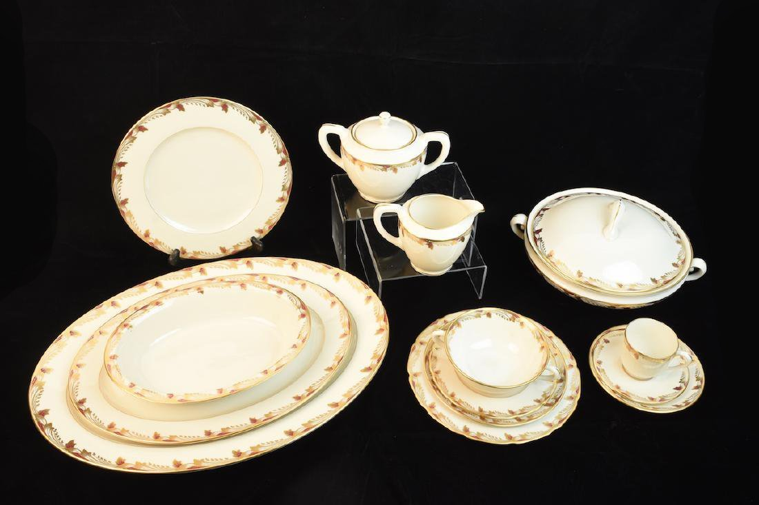 Essex Maroon by Lenox China, Service for 12