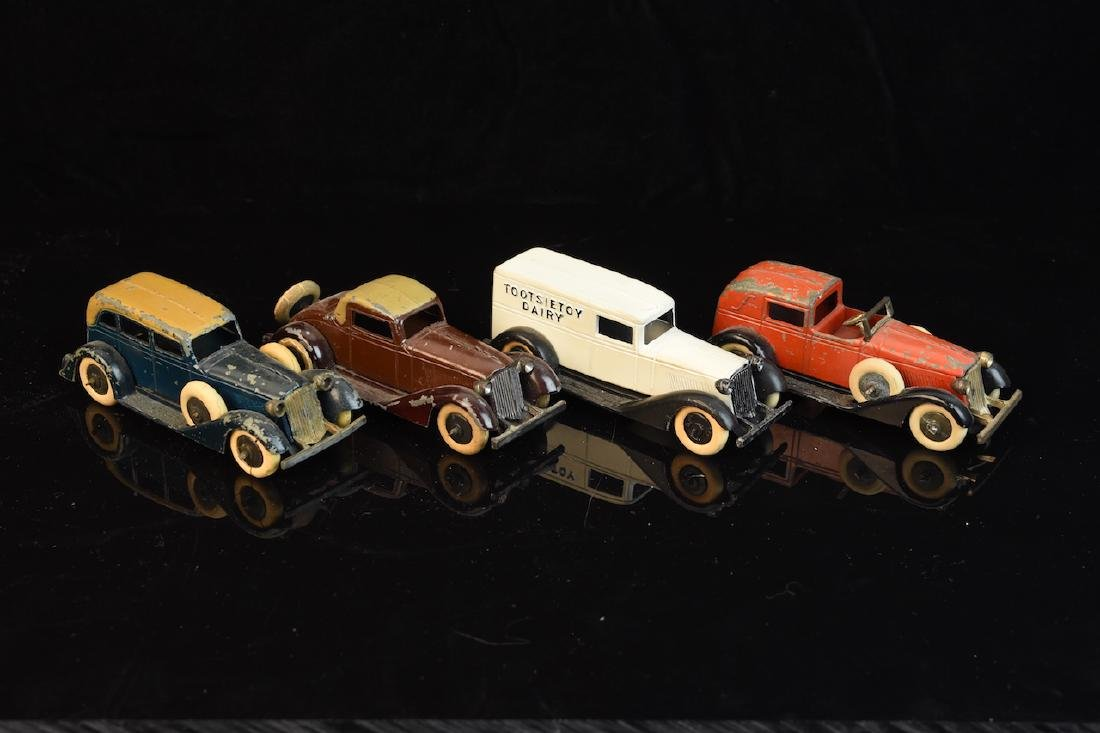 (4) Tootsietoy Graham Cars from the 1930's