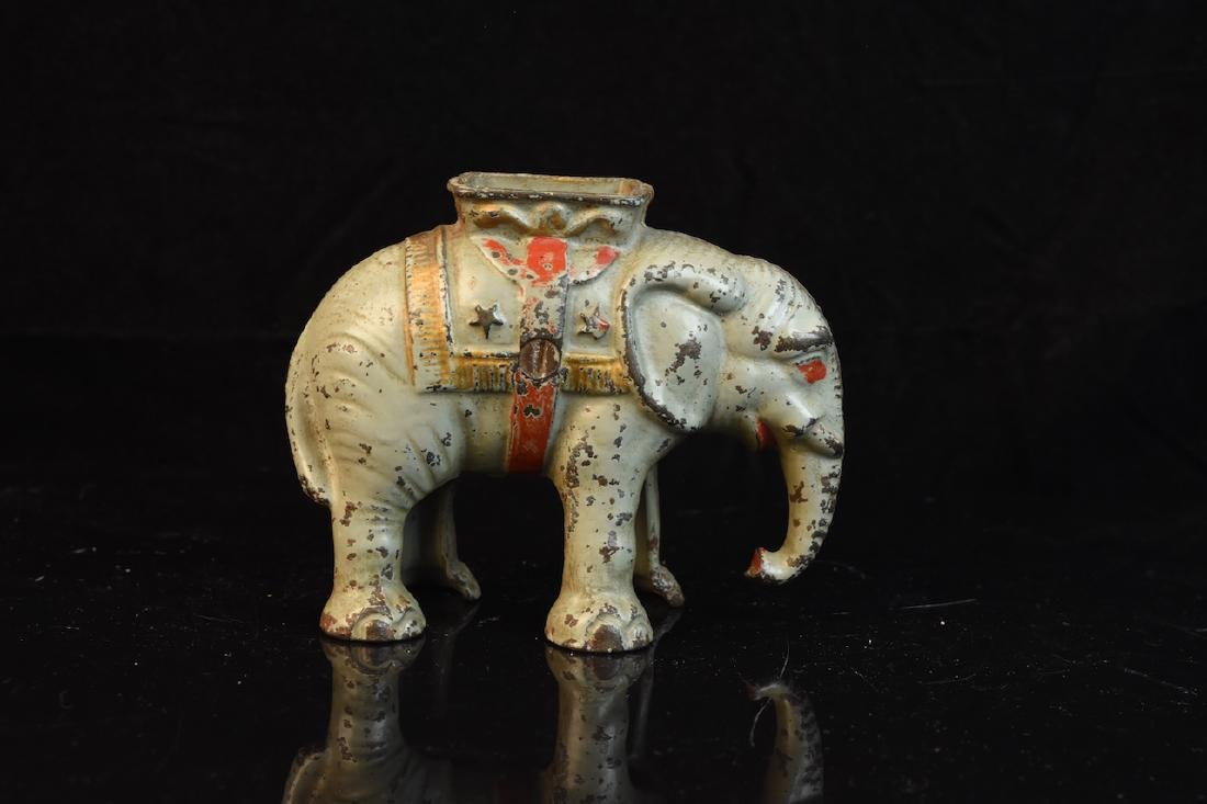 Cast Iron Still Elephant Bank