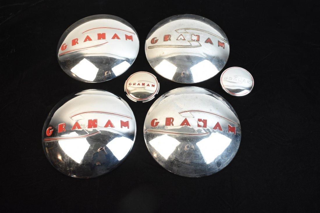 Graham Horn Button, Trunk Lid & (4) Hubcaps