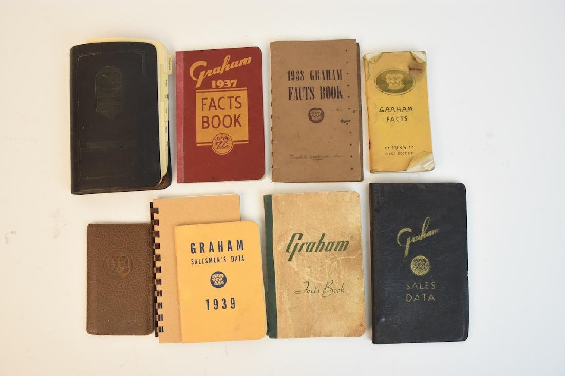 (9) Graham Facts and Salesman's Booklets/Manuals